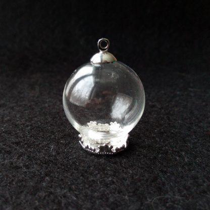 Стеклянная сфера с площадкой 25мм