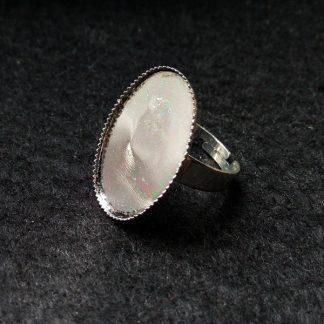 Основа для кольца с площадкой 25х18 серебро