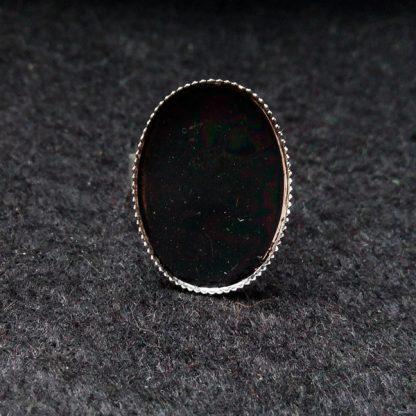 Основа для кольца с площадкой 25х18мм серебро