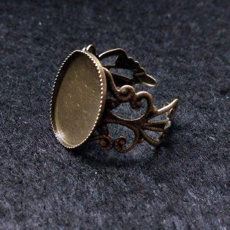 Основа для кольца с площадкой 18х13мм бронза