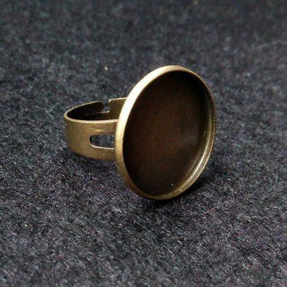 Основа для кольца 20мм бронза