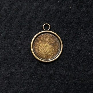 Рамка сеттинг для кабошона 18мм цвет бронза