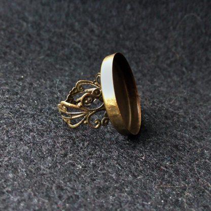 Основа для кольца с площадкой 25мм бронза