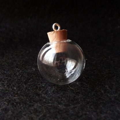 Стеклянная сфера 25 мм с деревянной пробкой